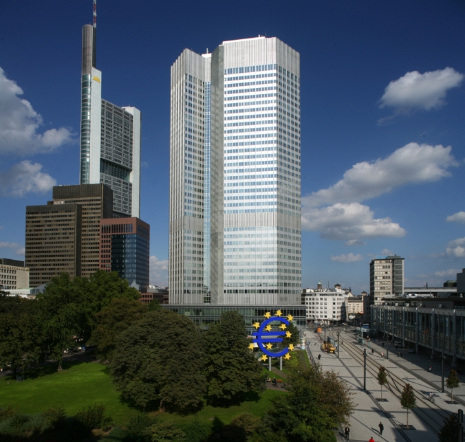The European Central Bank in Frankfurt